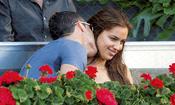 Cristiano Ronaldo besa a Irina Shayk en la final del Master Series de Madrid