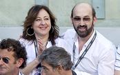 Carmen Machi y Javier Cámara en la final del Master Series de Madrid