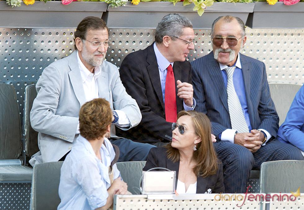 Mariano Rajoy y Alberto Ruiz-Gallardón en la final del Master Series de Madrid