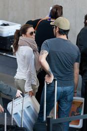 Eduardo Cruz y Eva Longoria en el aeropuerto de Los Ángeles