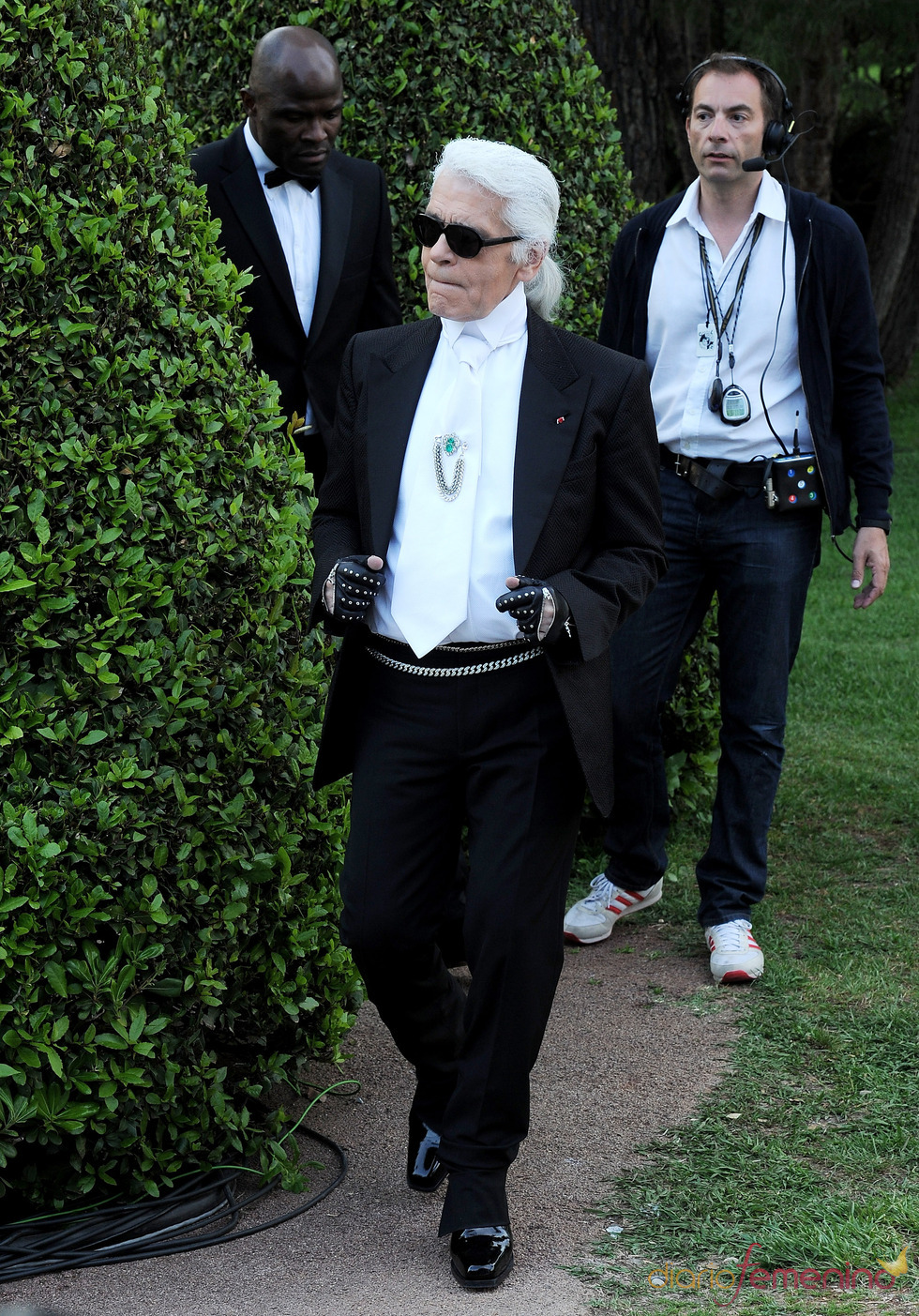 Karl Lagerfeld en la presentación de la colección Crucero de Chanel 2012