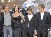 Natalia Millán, Fernando Tejero y Toni Cantó en los premios Max de teatro