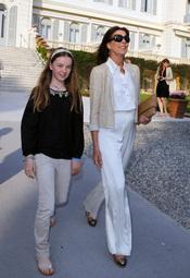 Carolina de Mónaco y su hija Alexandra en el Crucero de Chanel 2012