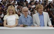 Rachel McAdams, Woody Allen y Owen Wilson en el Festival de Cannes 2011