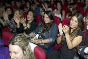 Elena Tablada disfruta en un concierto de David Bisbal