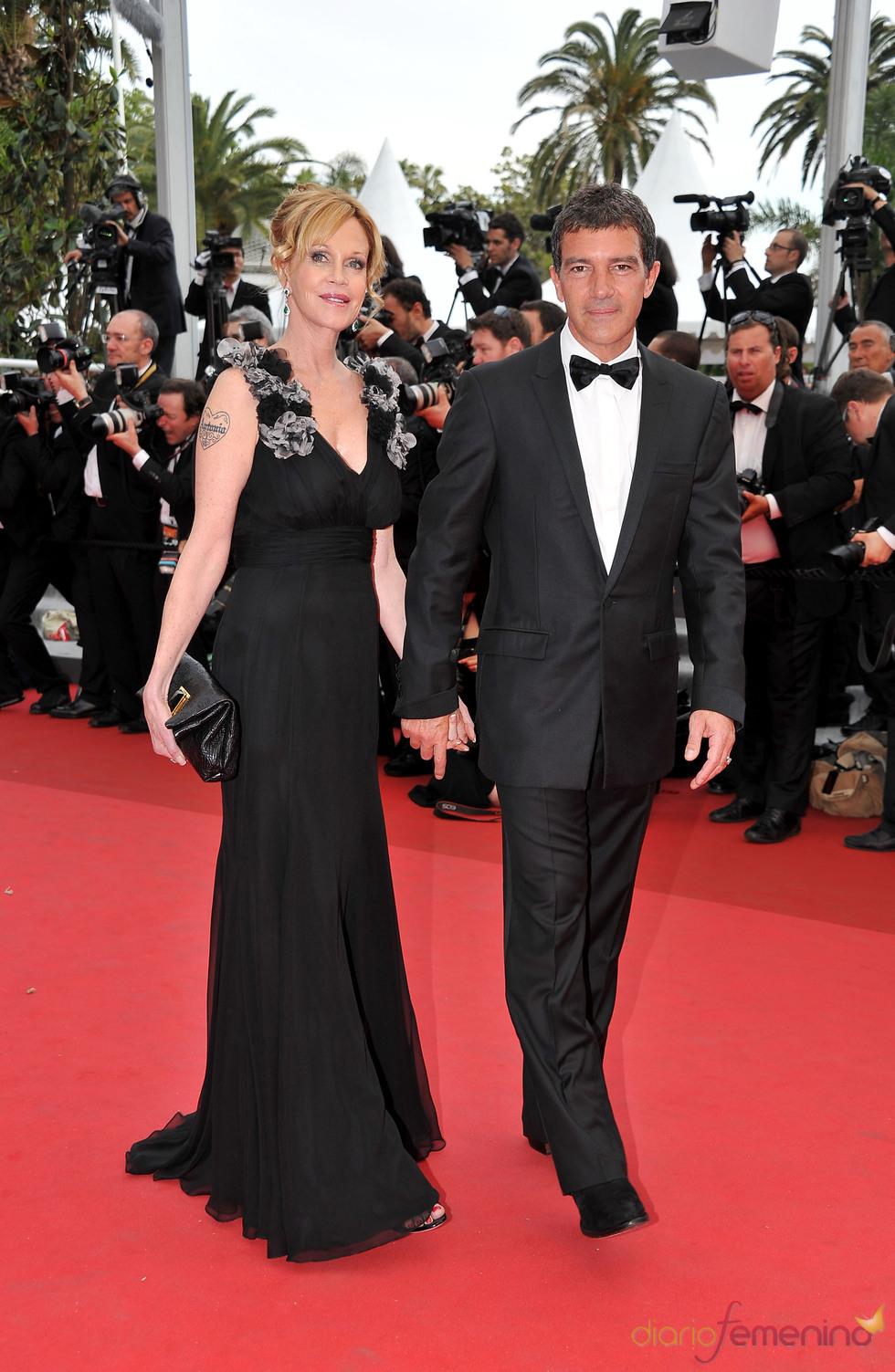 Antonio Banderas y Melanie Griffith en la apertura del Festival de Cannes 2011