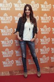 Almudena Cid en el estreno de 'Maldito naranjito'