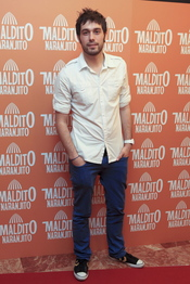 Dani Martínez en el estreno de 'Maldito naranjito'