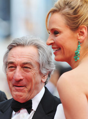 Robert De Niro y Uma Thurman en el Festival de Cine de Cannes 2011