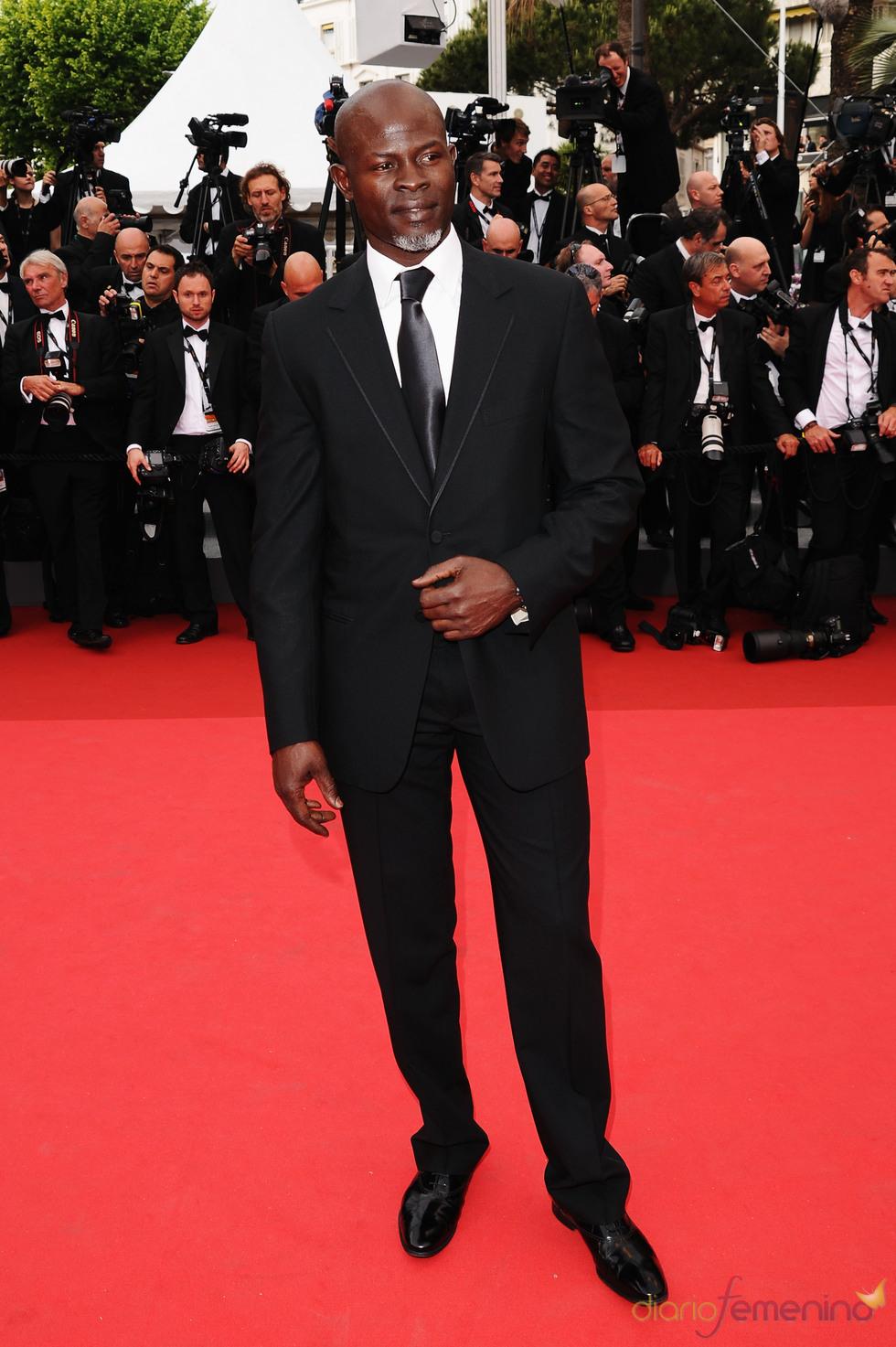 Djimon Hounsou posa en la alfombra roja del Festival de Cine de Cannes 2011
