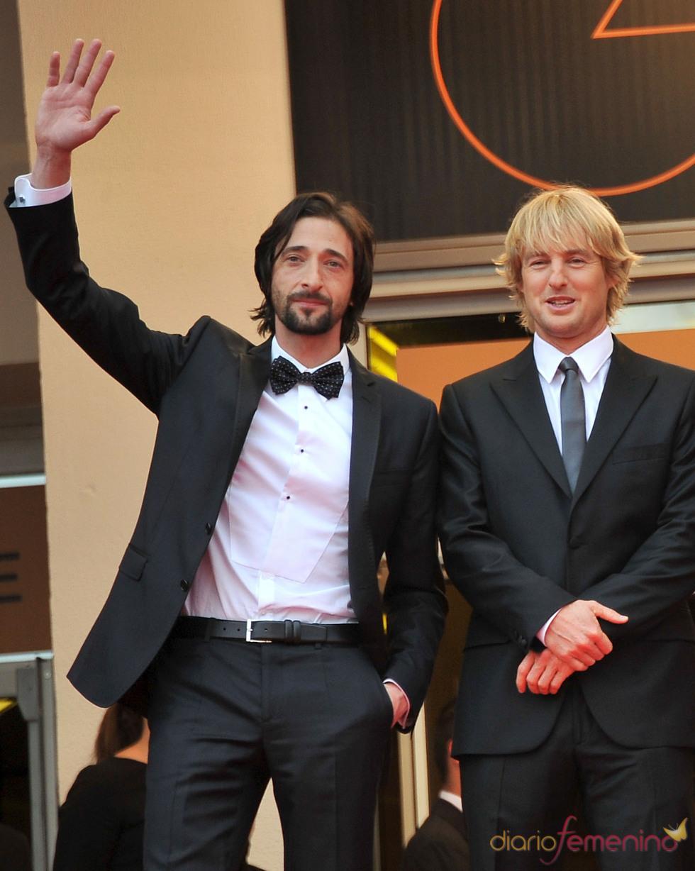 Adrien Brody y Owen Wilson alfombra roja del Festival de Cine de Cannes 2011