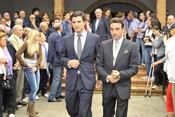 Enrique Ponce en el funeral de Severiano Ballesteros