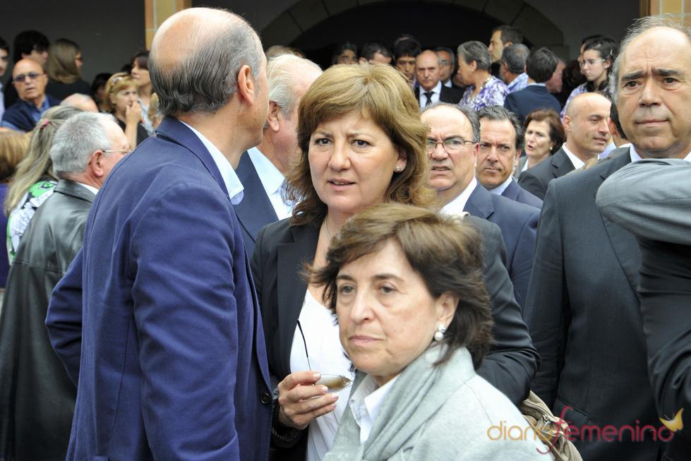 Olga Viza en el funeral de Severiano Ballesteros