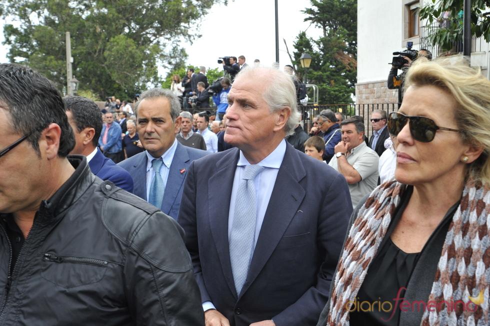 Ramón Calderón en el funeral de Severiano Ballesteros