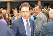Matias Prats en el funeral de Severiano Ballesteros