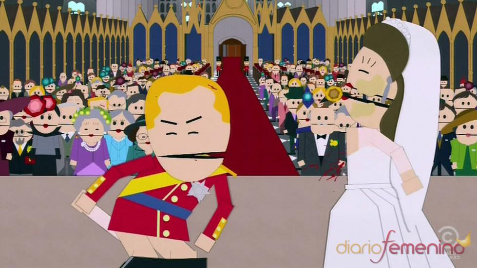 Kate Middleton y Guillermo de Inglaterra en South Park