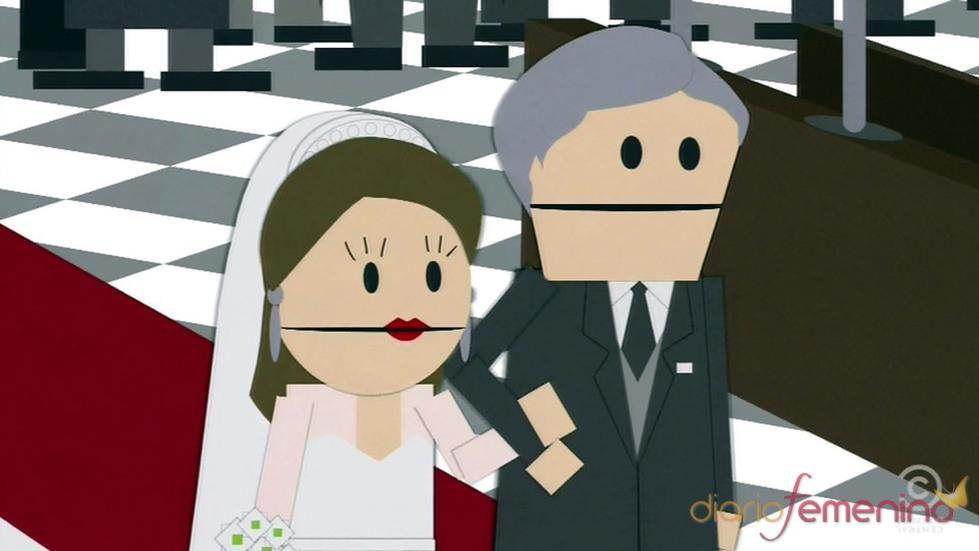Kate Middleton y su padre en la Boda Real de Inglaterra de South Park