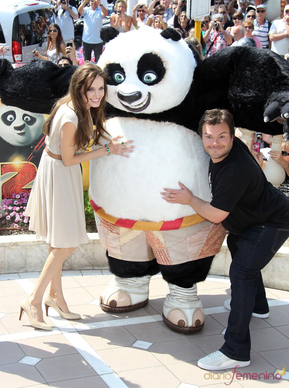 Angelina Jolie y Jack Black en Cannes con 'Kung Fu Panda 2'