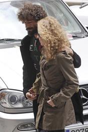 Silvia Abascal y su novio Ruben Martín pasean por las calles de Madrid