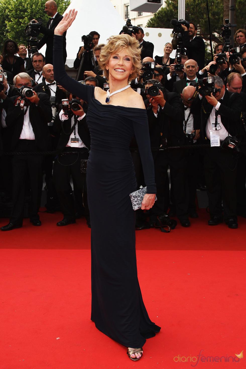 Jane Fonda en la alfombra roja del festival de Cannes 2011