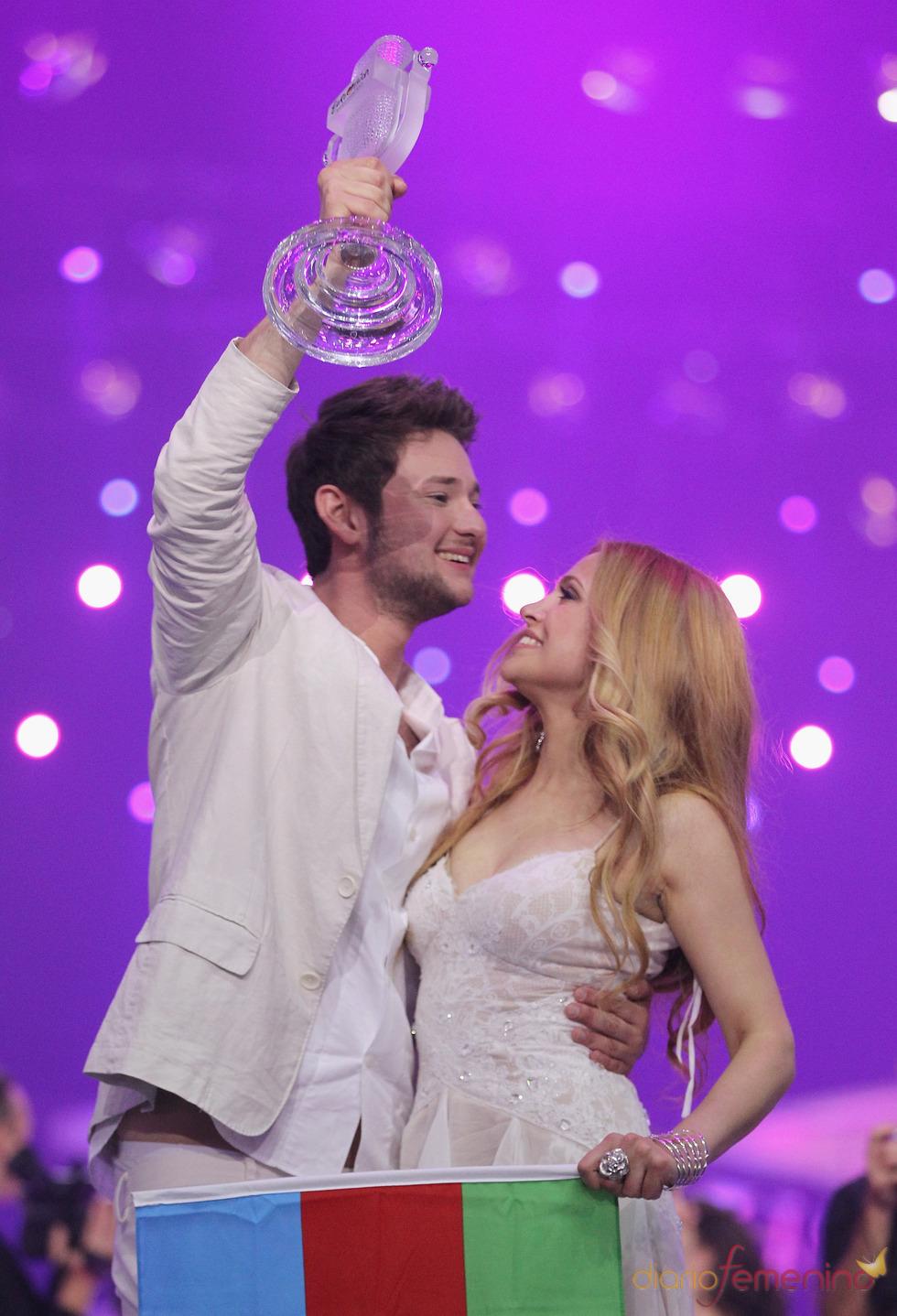 Ell y Nikki, de Azerbaiyán, celebran su triunfo en Eurovisión 2011
