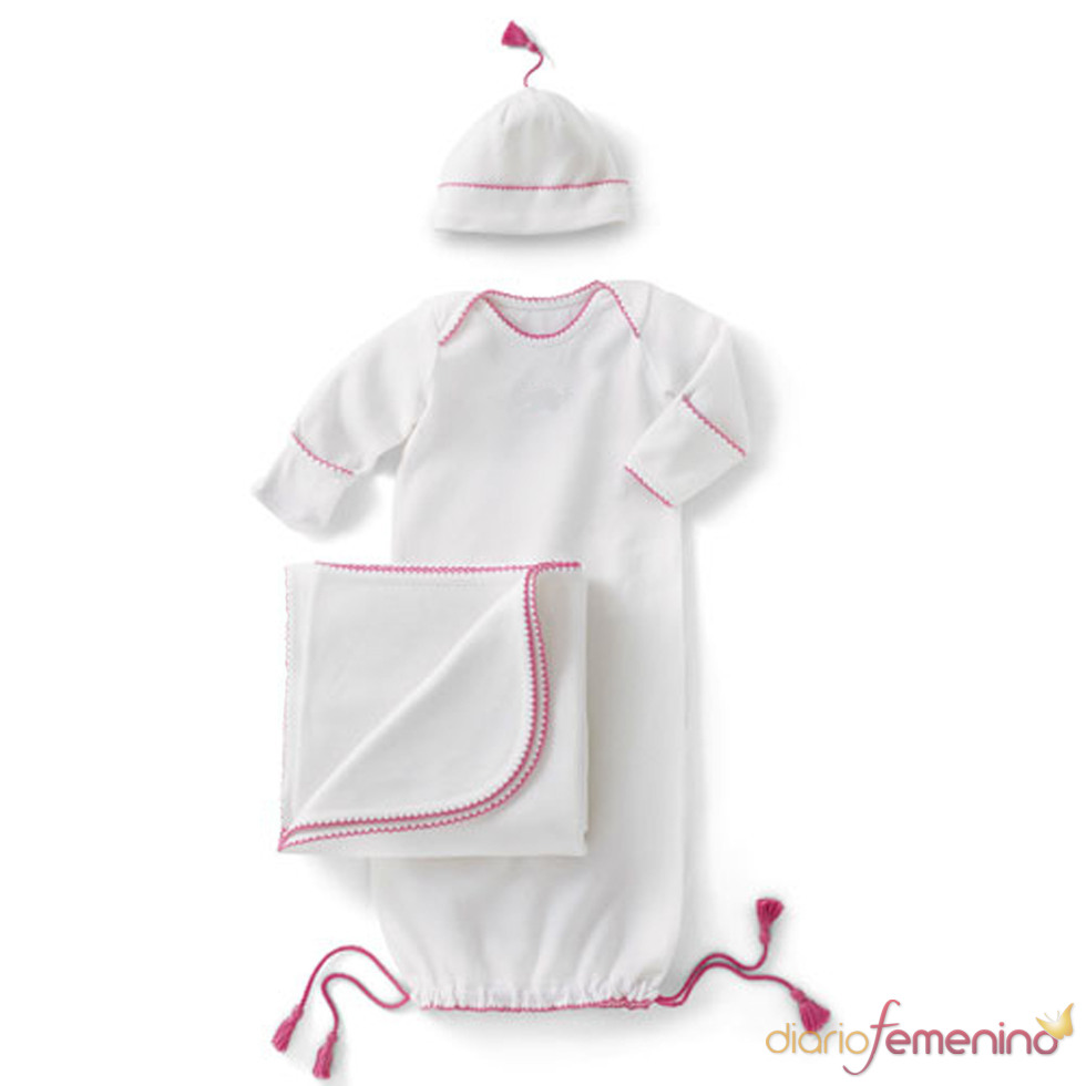Body blanco y rosa de la 'baby shower' de Victoria Beckham