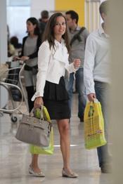 Pippa Middleton en el aeropuerto de Madrid antes de volver a Londres