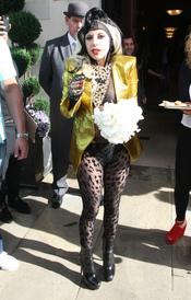 Lady Gaga en su paso por Londres
