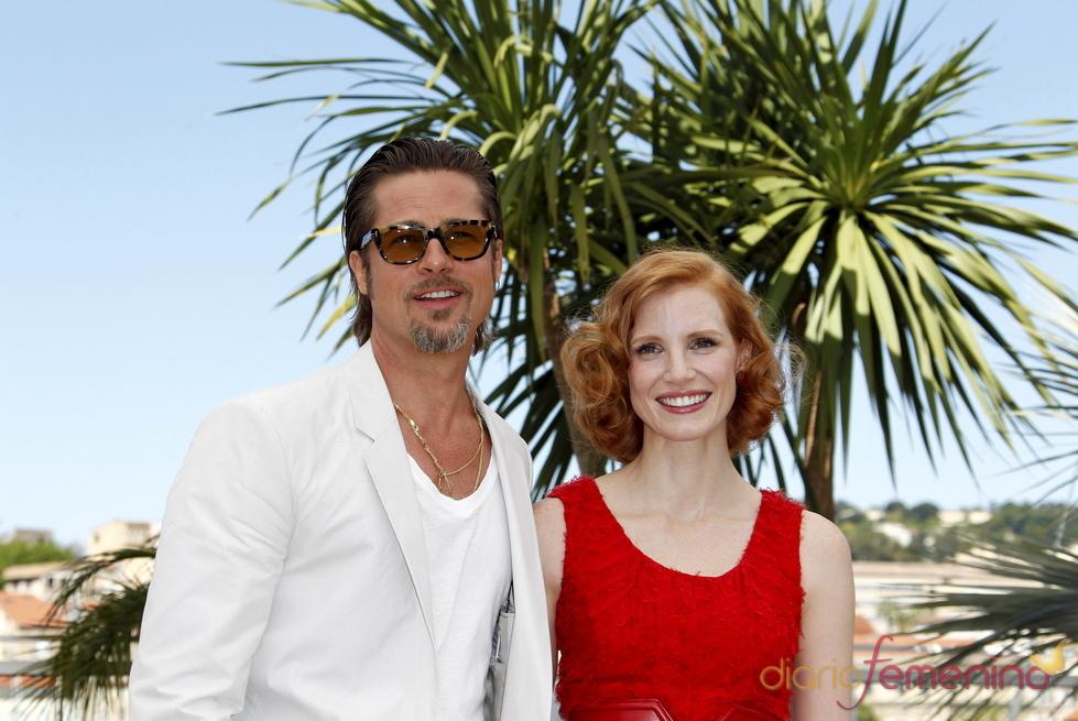 Brad Pitt y Jessica Chastain presentan 'El árbol de la vida' en Cannes