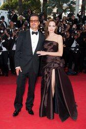 Brad Pitt y Angelina Jolie en la alfombra roja de 'El árbol de la vida' en Cannes