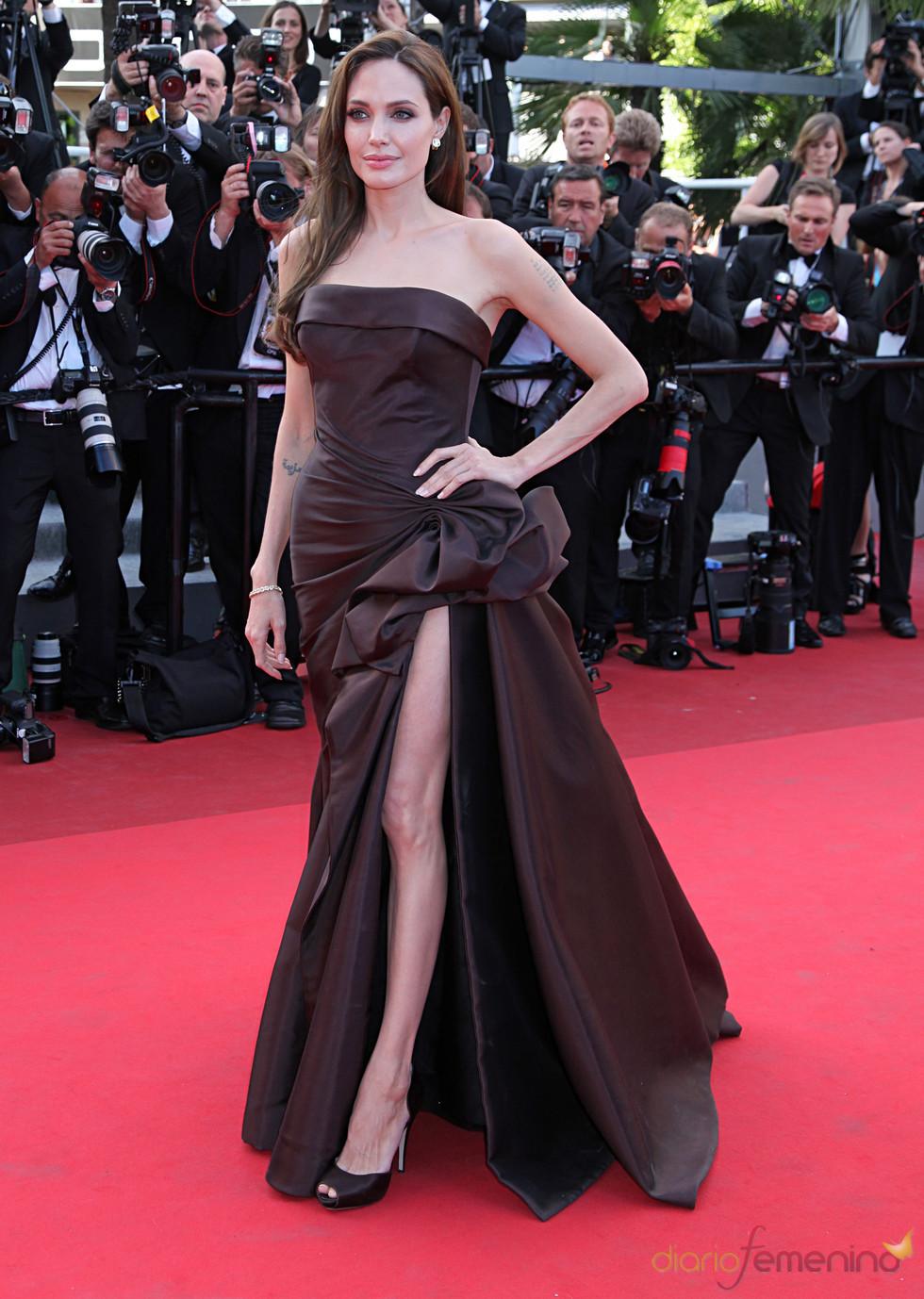 Angelina Jolie en el estreno de 'El árbol de la vida' en Cannes