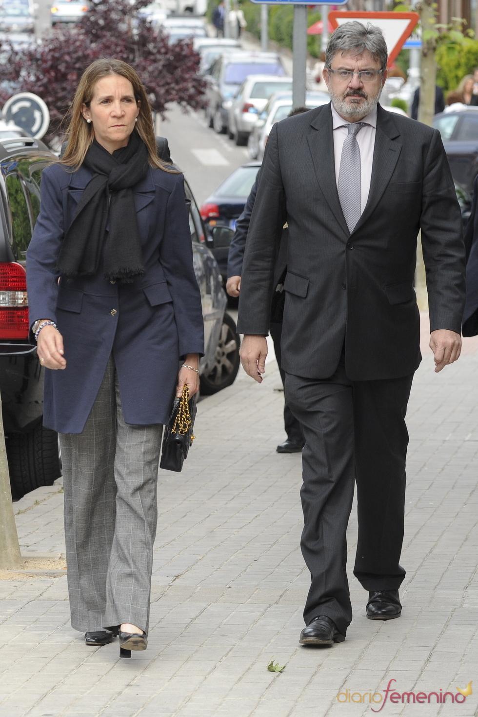 La Infanta Elena en el funeral de Fernando Moreno de Borbón