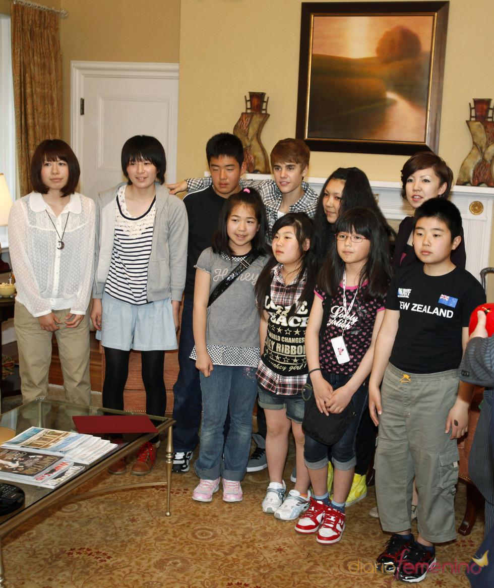 Justin Bieber muestra su faceta más solidaria en Japón