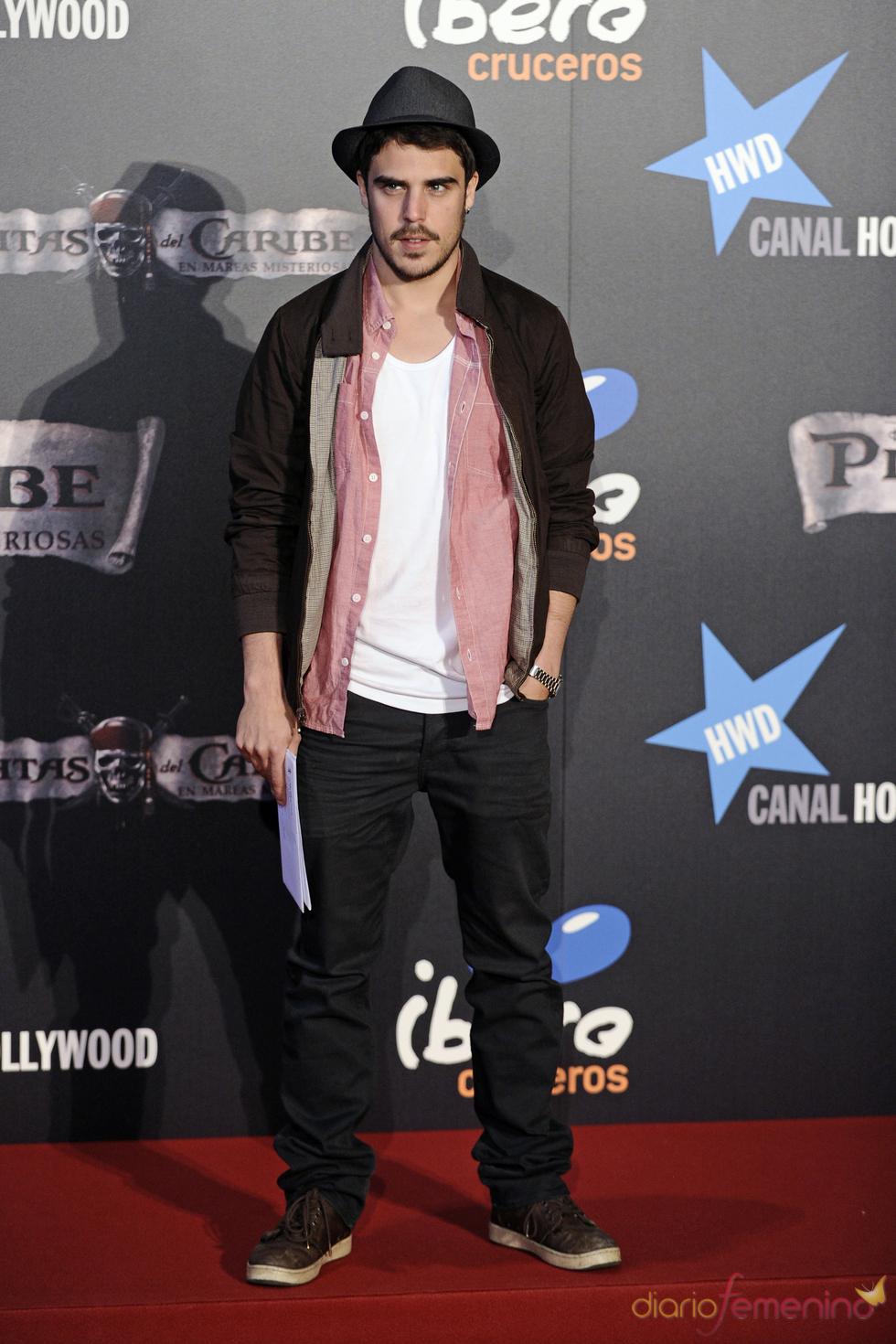 Javier Hernández en el estreno en Madrid de 'Piratas del Caribe 4'