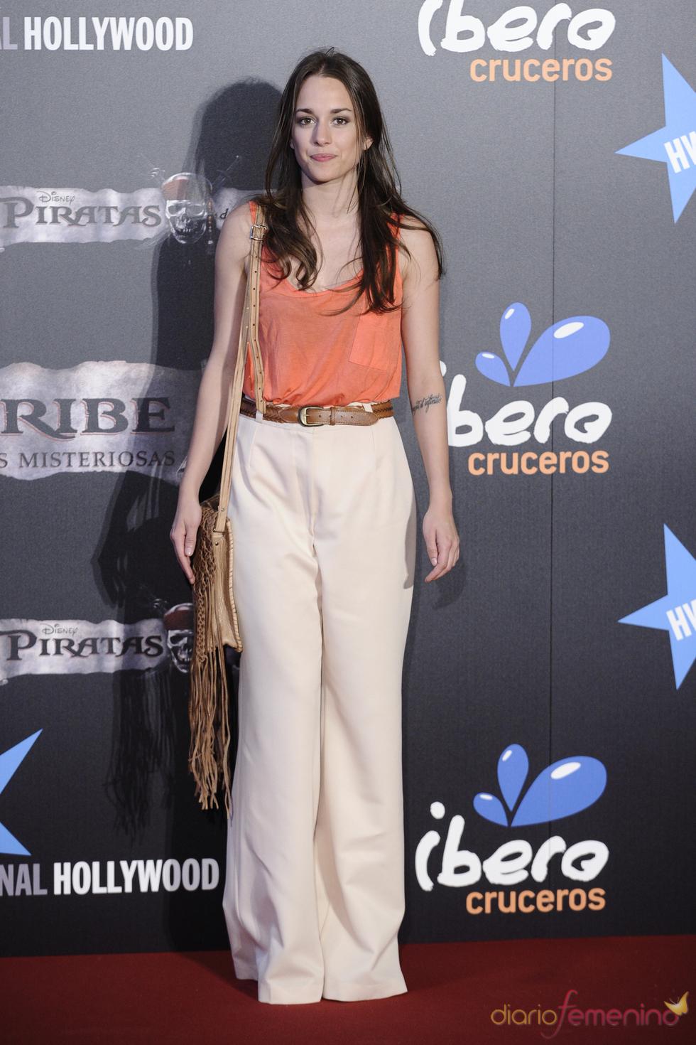 Silvia Alonso en el estreno en Madrid de 'Piratas del Caribe 4'