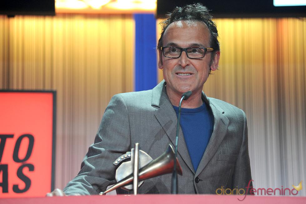 Alberto Iglesias durante los Premios de la Música 2011