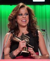 Pastora Soler durante la gala de los Premios de la Música 2011