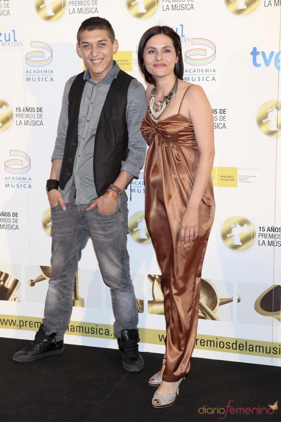 Nahuel y Eva Perales en los Premios de la Música 2011