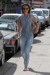 Pippa Middleton se apunta a la moda del denim