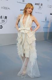 Courtney Love en la gala benéfica contra el sida de Cannes 2011