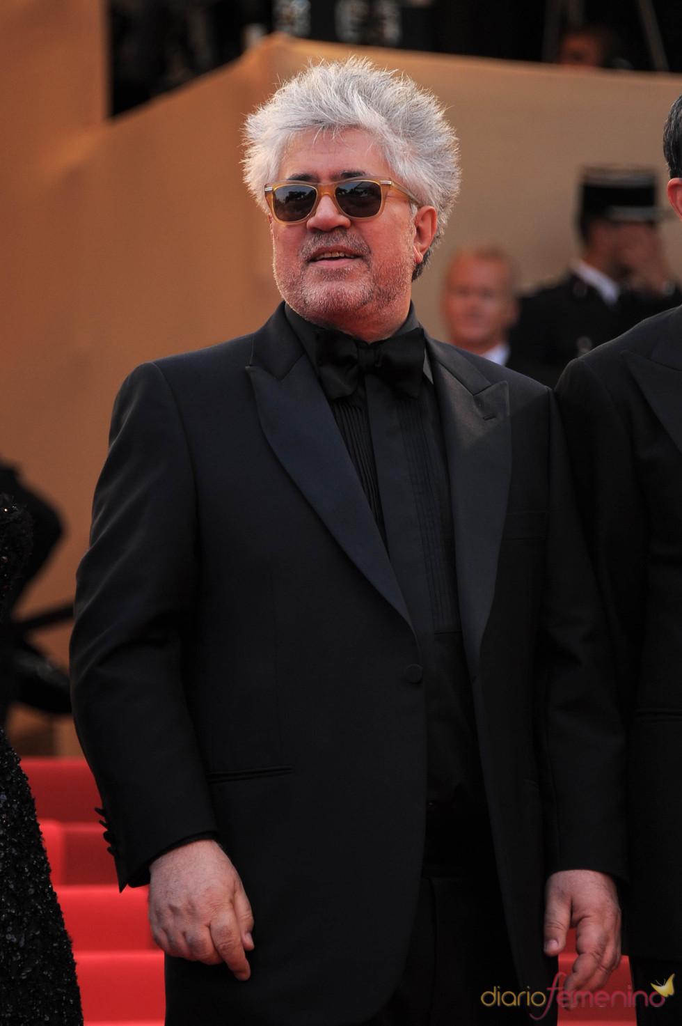 Pedro Almodóvar en la presentación de 'La piel que habito' en Cannes 2011
