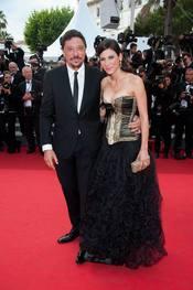 Carlos Bardem en la presentación de 'La piel que habito' en Cannes 2011