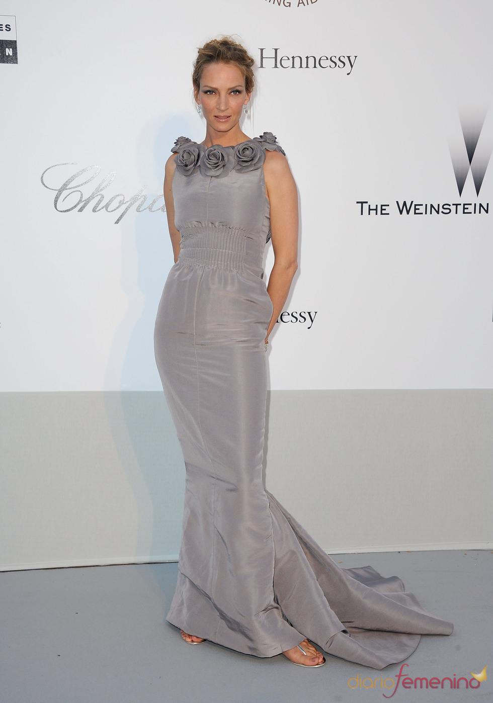 Uma Thurman en la gala benéfica contra el sida de Cannes 2011