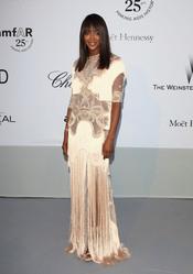 Naomi Campbell en la gala benéfica contra el sida de Cannes 2011