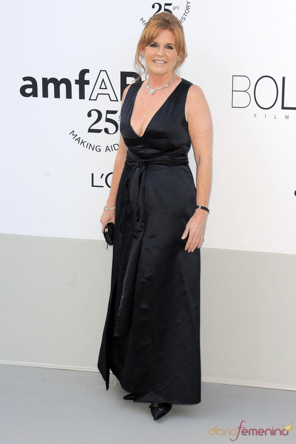 Sarah Ferguson en la gala benéfica contra el sida de Cannes 2011