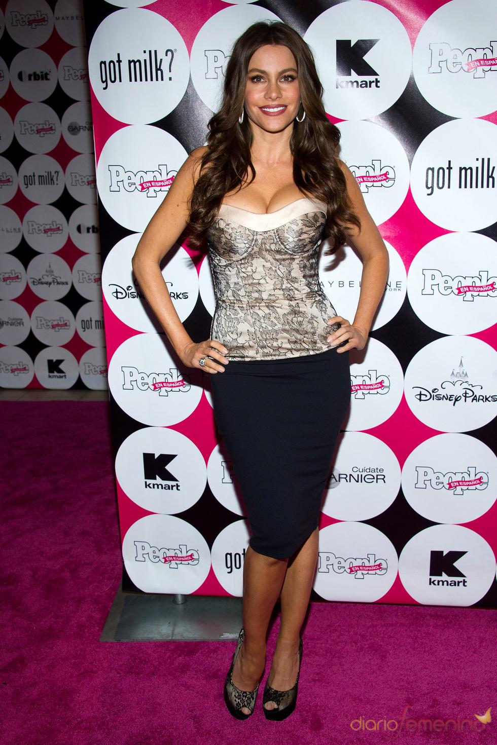 Sofía Vergara, muy elegante en la gala de 'People' en español