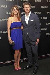 Xabi Alonso y Nagore Aramburu en la 11 edición de los Premios Glamour y Belleza