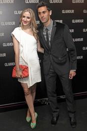 Álvaro Arbeloa y su novia en la 11 edición de los Premios Glamour y Belleza