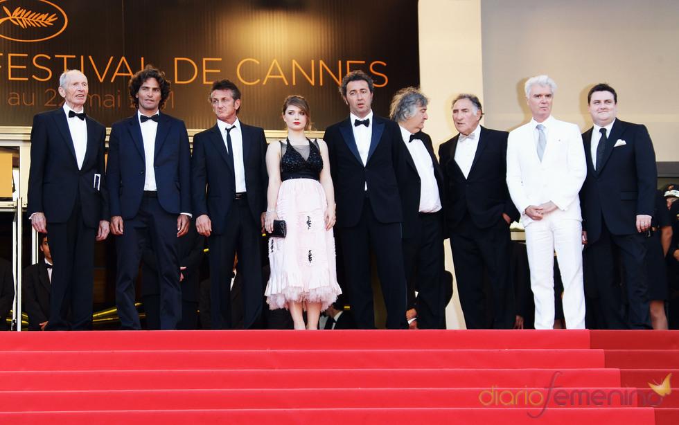 Elenco de 'This must be the place' en la premier de la película en Cannes 2011