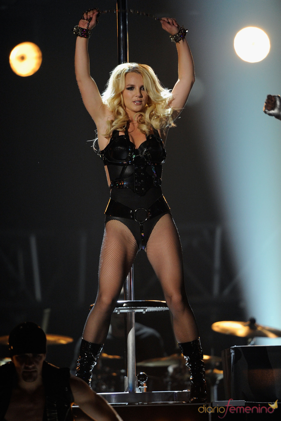 Britney Spears durante su actuación en los Billboard Music Awards 2011